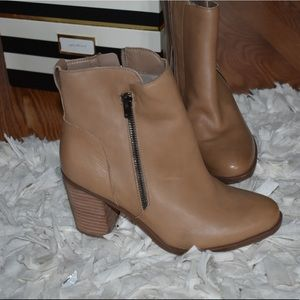 Never worn tan booties 7.5